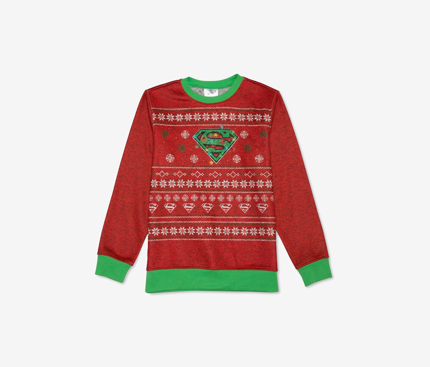 Big Boys Holiday  Sweater, Red/Green