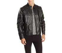 Kenneth Cole Reaction Textured Faux Leather Moto Jacket, Black