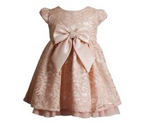 Sweet Heart Rose Baby Girl's Lace & Bow Dress, Blush