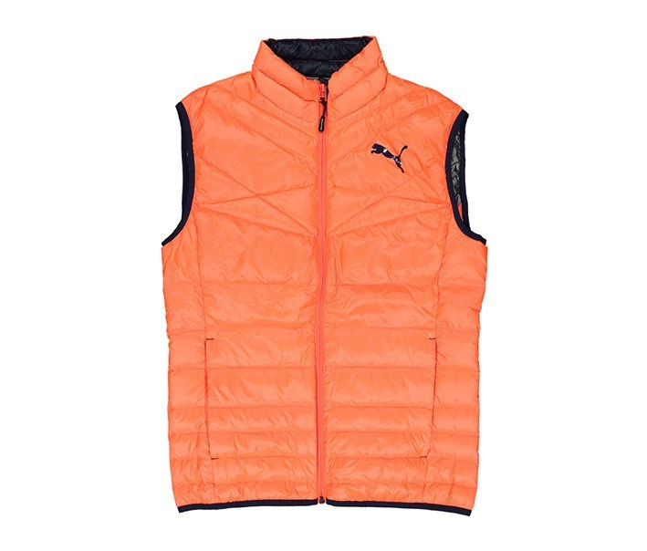 Men's Quilted Vest, Coral Orange