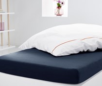 Jersey Fitted Sheet,90 x 190 cm, Blue