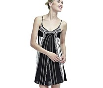 Guess Women's Ethnic Print Dress, Black/White