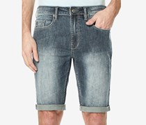 Buffalo David Bitton Parker-x Skinny-Fit Stretch Jean Shorts, Indigo