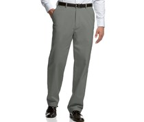 Haggar Men's Classic-fit Microfiber Pants Heather, Grey