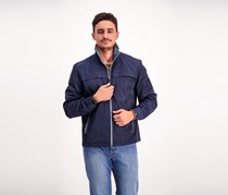 F.O.G. by London Fog Men's Packable Performance Jacket, Navy