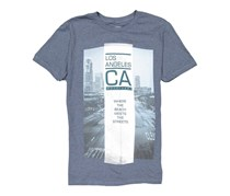 Ocean Current Men's Graphic Print T-shirt, Chambray Blue