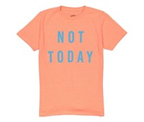 Ocean Current Men's Not Today Print T-Shirt, Neon Orange