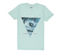 Ocean Current Men's California Dreaming T-shirt, Aqua Blue