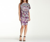 Custo Barcelona Printed Asymmetrical Sleeves, Purple Combo