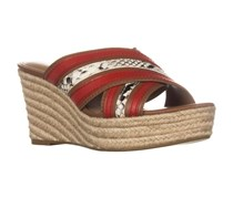 Coach Womens Florentine Wedges Sandals, Saddle