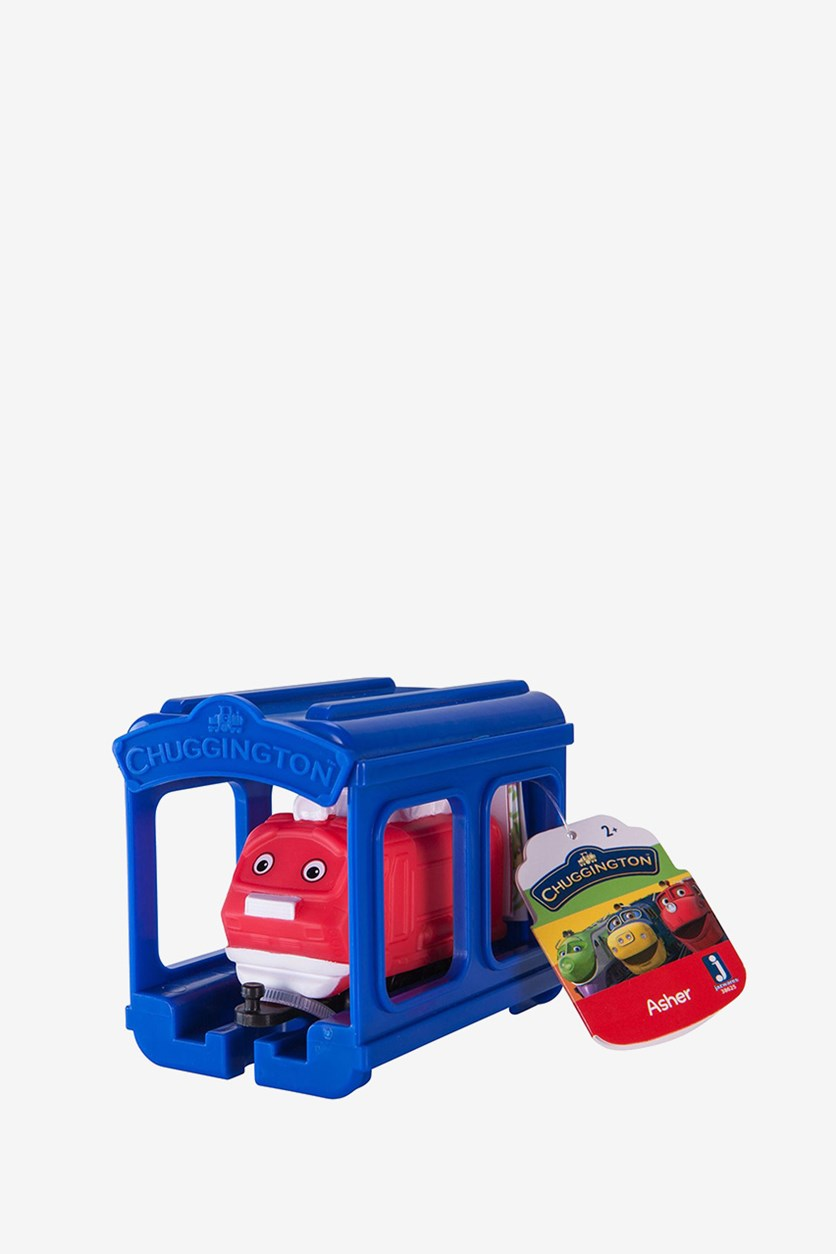 Engineer Asher With Garage, Blue/Red