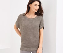 Women's Knitted Sweater, Taupe