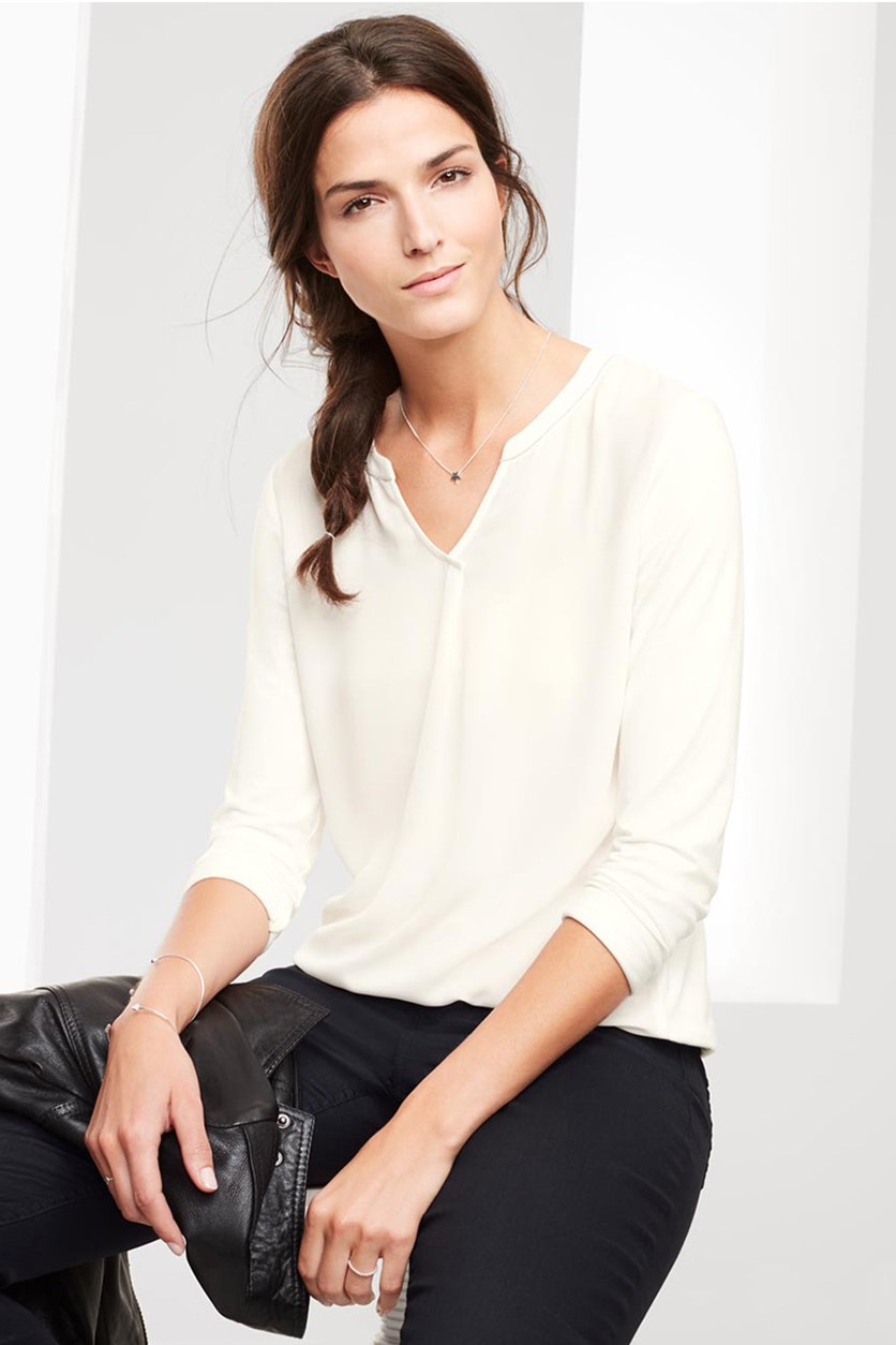 Women's Blouse, Offwhite