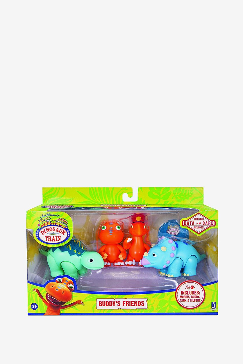 Dinosaur Train Buddy and Friends Toy Figure, Orange/Blue