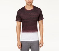 Inc Men's Ombre Striped T-Shirt, Vintage Maroon