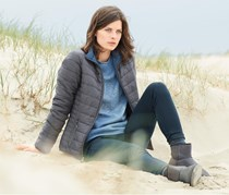 Women's Reversible-Jacket, Grey/Mid Blue