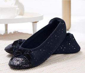Women's Home Ballerina, Dark Blue