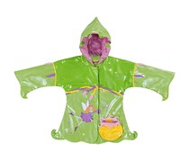 Kidorable Little Girls' Fairy PU Raincoat, Green