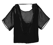 PPLA Women's Billie Open Back Top, Black