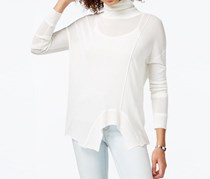 Rachel Roy Long-Sleeve Pullover Sweater, Off White
