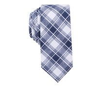 Bar III Men's Palmyra Plaid Slim Tie, Navy