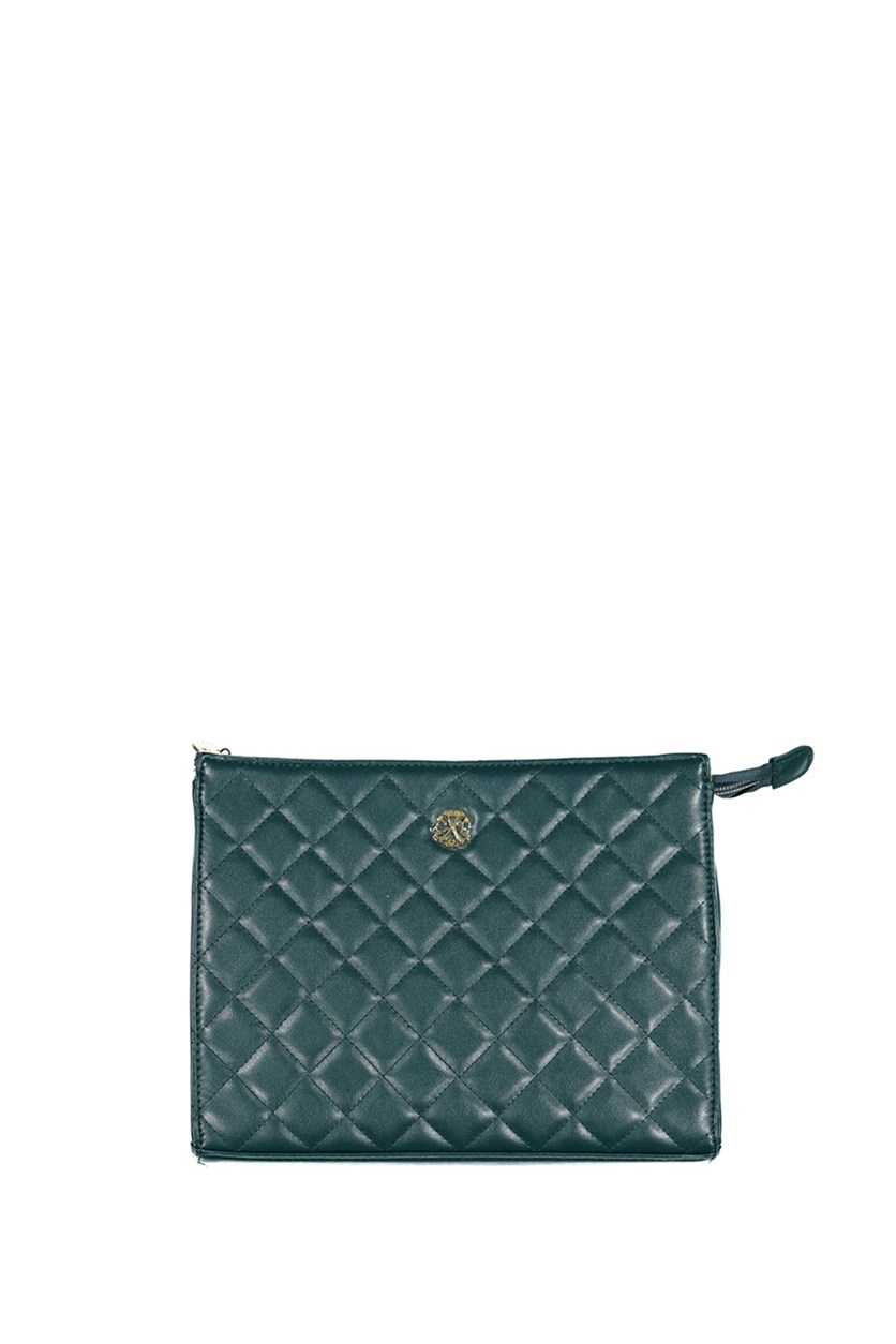 Women's  Quilted Clutch, Teal