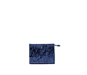 Christian Lacroix Crushed Velvet Clutch, Navy/Marine