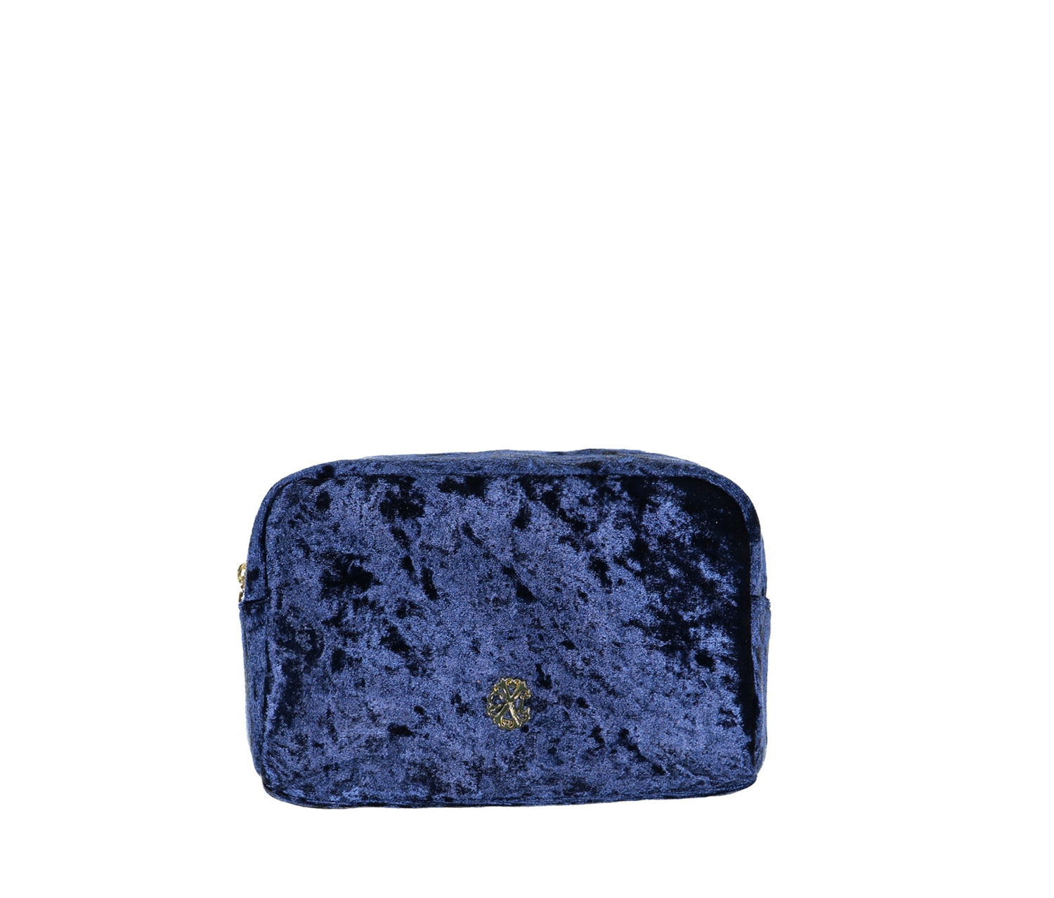 Christian Lacroix Crushed Velvet Voyager Cosmetic Kit, Navy/Marine