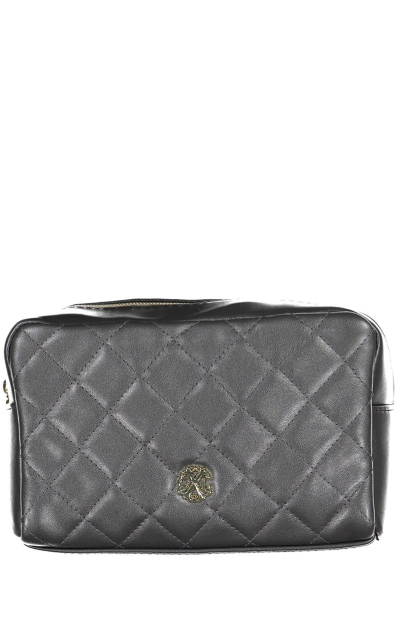 Quilted Voyager Cosmetic Kit, Dark Gray