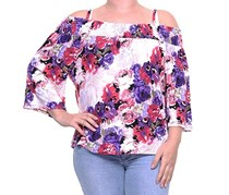 International Concepts Women's Cold Shoulder Top, Floral