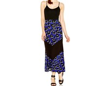 Kensie Women's Printed Maxi Skirt, Purple