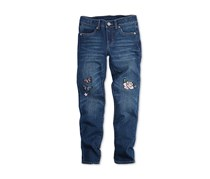 Levi's Limited Collection Patch-Embroidered Super Skinny Jeans, Dark Blue