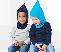 Toddlers Boys Double-Sided Hood, Dark Blue/Turquoise