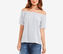 Vince Camuto Women's Off-the-Shoulder Top,  Grey Heather