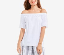 Vince Camuto Women's Trim Off-the-Shoulder Top, Ultra White