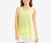 Two by Vince Camuto Layered-Look Top, Pale Lime