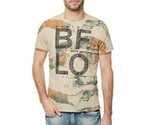 Buffalo David Bitton Camo Cotton Tee, Beige