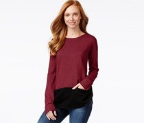 G.h. Bass & Co. Long-Sleeve Colorblocked Sweater, Berry Combo