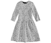 Guess Leopard-Print Dress Big Girl's, Black/White