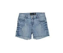 Chillin Womens Ripped Shorts, Blue Wash
