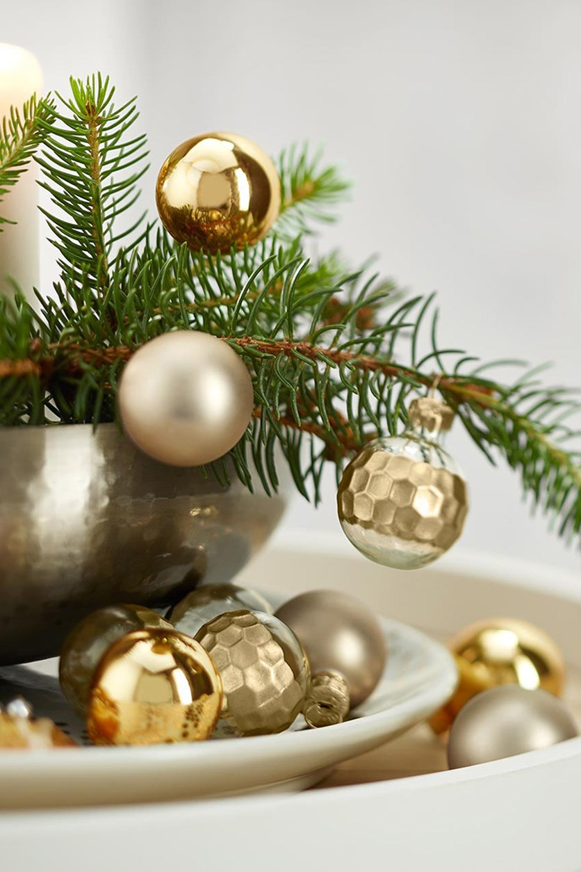 Mini Decoration Balls, Golden