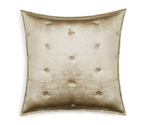 Hudson Park Bedding Luxe Piazza Quilted Pillow Case, Gold