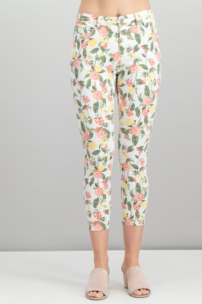 Petite Mckenna Printed Jeans, New Neutral Pearl Combo
