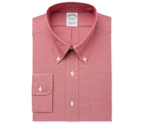 Brooks Brothers Men's Slim-Fit Dress Shirts, Red