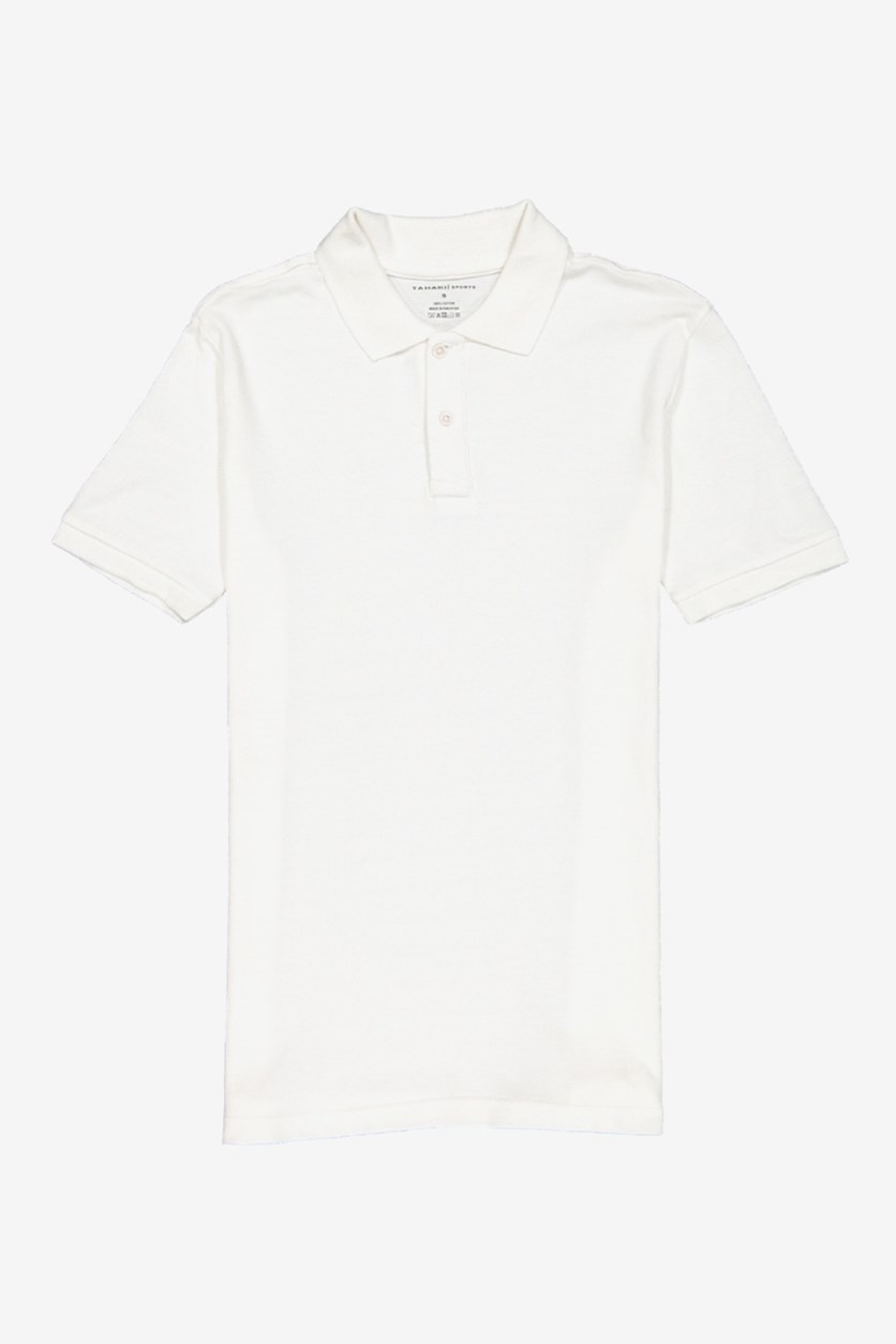 Boy's Cotton Polo Shirt, White