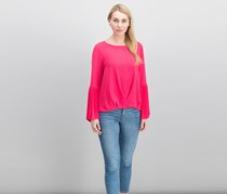 Vince Camuto Pleat Detail Top, Vibrant Fuchsia