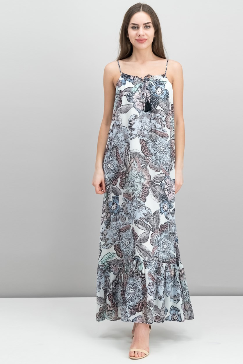 Printed Maxi Dress, Antiq White Combo