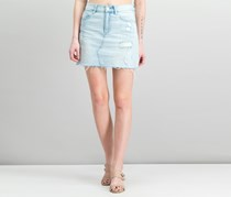 1.State Cotton Ripped Denim Mini Skirt, Reef Wash