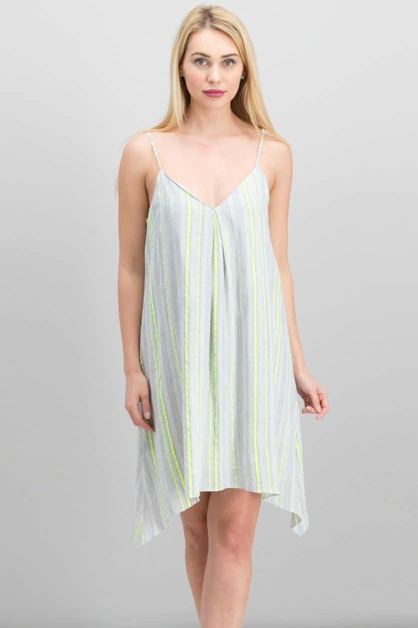 Handkerchief-Hem Shift Dress, Island Lime