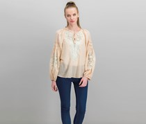 Free People Shimla Embroidered Blouse, Peach